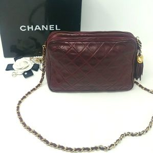 a09c06e6b70a 🎉Auth CHANEL Bordeaux Camera Bag More PHOTOS!